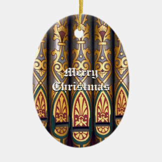 Ornamento del tubo de órgano del navidad adorno navideño ovalado de cerámica