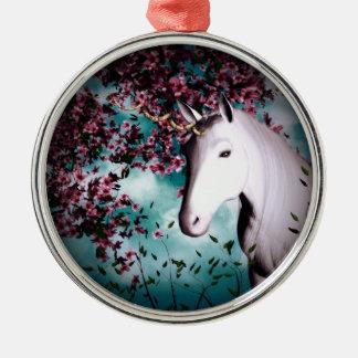 Ornamento del unicornio ornamentos de navidad