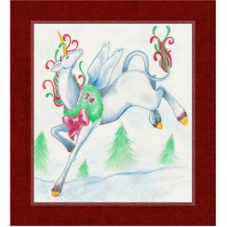 Ornamento del unicornio del navidad adorno fotoescultura