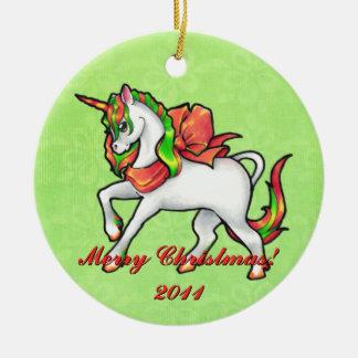 Ornamento del unicornio del navidad ornamente de reyes