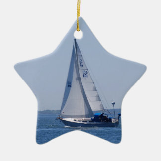 Ornamento del velero adorno de cerámica en forma de estrella