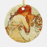 Ornamento del verano de Alfonso Mucha Ornamento De Navidad
