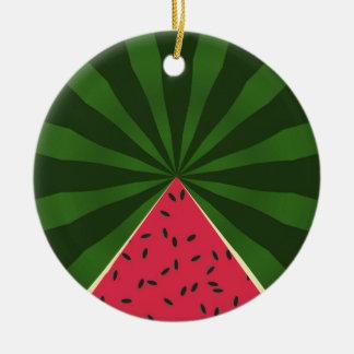 Ornamento del verano de la sandía del melón del adorno navideño redondo de cerámica