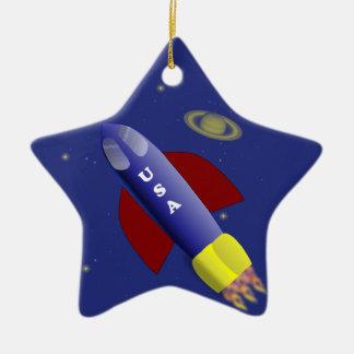 Ornamento del viaje espacial adornos de navidad