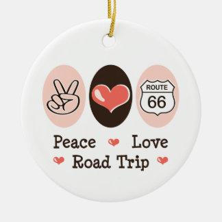 Ornamento del viaje por carretera del amor de la p adornos de navidad