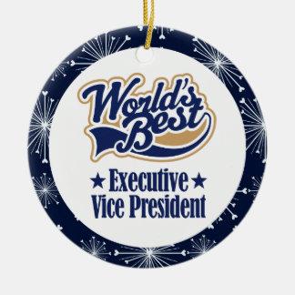 Ornamento del vicepresidente ejecutivo regalo adorno navideño redondo de cerámica