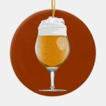 Ornamento del vidrio de cerveza ornaments para arbol de navidad
