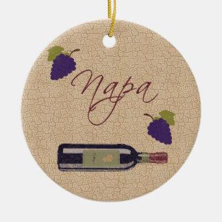 Ornamento del vino de Napa del vintage Ornaments Para Arbol De Navidad
