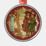 Ornamento del vintage de los niños de las Felices  Adornos De Navidad
