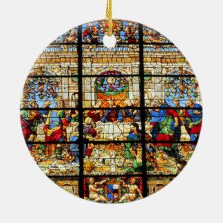 Ornamento del vitral adorno redondo de cerámica