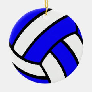 Ornamento del voleibol adorno navideño redondo de cerámica