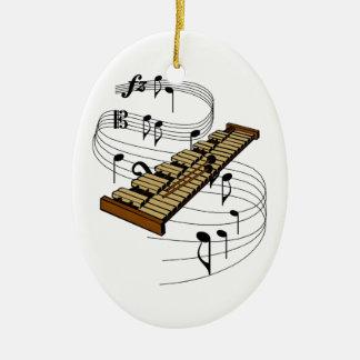 Ornamento del xilófono adorno navideño ovalado de cerámica