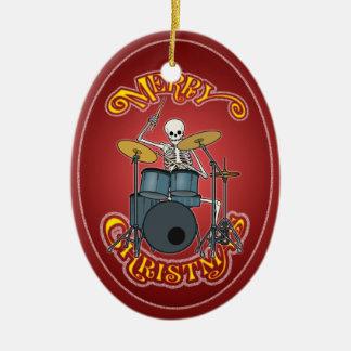Ornamento determinado personalizado de Navidad del Adorno Navideño Ovalado De Cerámica