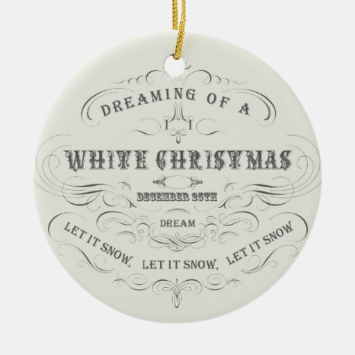 Ornamento Día de fiesta-Blanco de Navidad del vint Ornatos