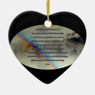 Ornamento diario del rezo adorno navideño de cerámica en forma de corazón