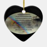 Ornamento diario del rezo adorno de cerámica en forma de corazón