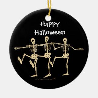 Ornamento divertido de Halloween de los esqueletos Adornos