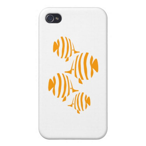 Ornamento divertido de los pescados iPhone 4/4S carcasa