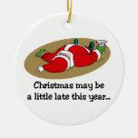 Ornamento divertido de Papá Noel Ornatos