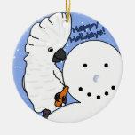 Ornamento divertido del Cockatoo del paraguas del  Ornamente De Reyes