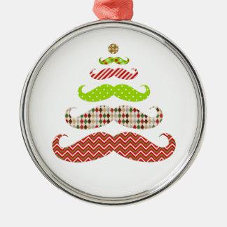 Ornamento divertido del día de fiesta del árbol de adorno navideño redondo de metal