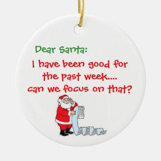 Ornamento divertido del navidad adorno navideño redondo de cerámica