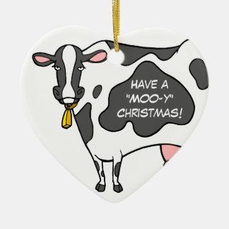 Ornamento divertido del navidad de la vaca ornamente de reyes
