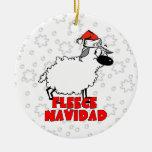 Ornamento divertido del navidad de Navidad del Adorno Navideño Redondo De Cerámica