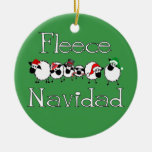 Ornamento divertido del navidad de Navidad del Adorno Redondo De Cerámica