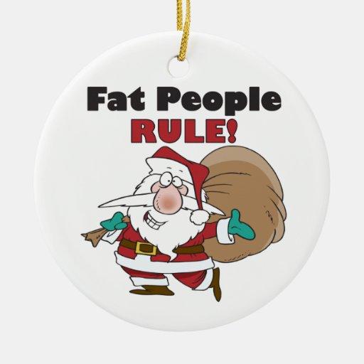 Ornamento divertido del navidad de Papá Noel Adorno Redondo De Cerámica