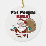 Ornamento divertido del navidad de Papá Noel Adornos De Navidad
