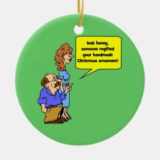 ornamento divertido del navidad ornato