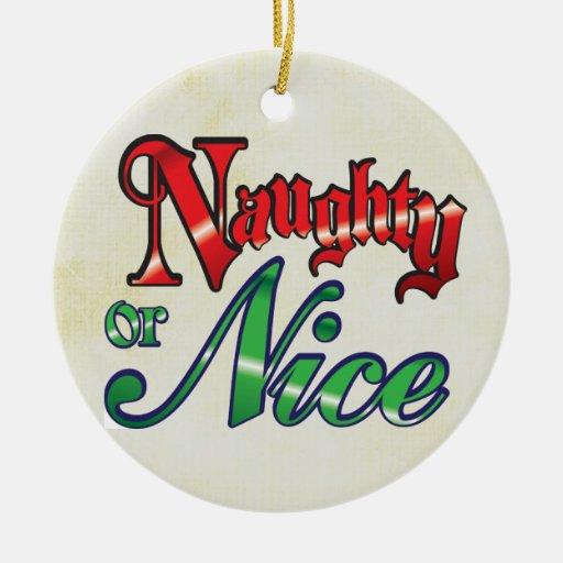 Ornamento divertido del navidad adorno redondo de cerámica