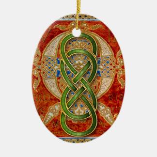 Ornamento doble de la cal de Cloisonne del infinit