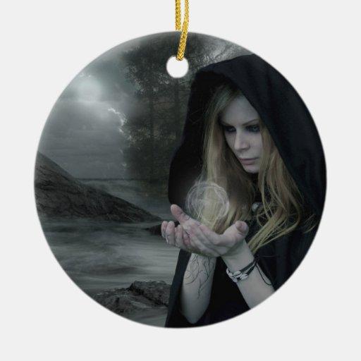 Ornamento doble de la magia del vampiro ornamento para arbol de navidad