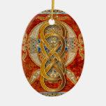 Ornamento doble del ámbar de Cloisonne del Adorno Para Reyes