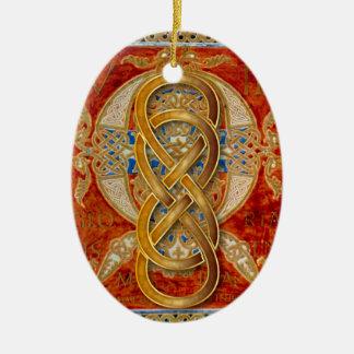Ornamento doble del ámbar de Cloisonne del Adorno Ovalado De Cerámica