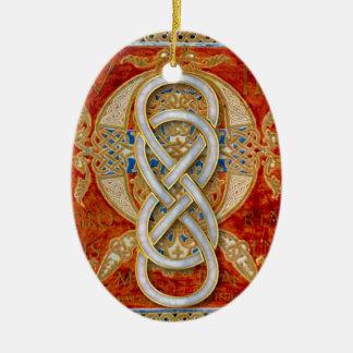 Ornamento doble del ópalo de Cloisonne del infinit