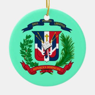 Ornamento DOMINICANO del navidad de REPUBLIC* Adorno Navideño Redondo De Cerámica