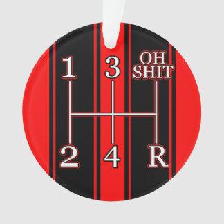 Ornamento dual negro rojo del coche del músculo de