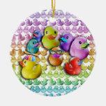 Ornamento - Duckies de goma, caucho Ducky Ornamente De Reyes