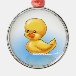 Ornamento Ducky Adorno Navideño Redondo De Metal