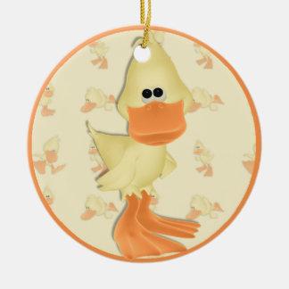 Ornamento Ducky del día de fiesta Adorno Navideño Redondo De Cerámica