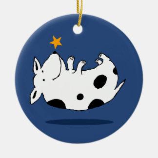 Ornamento dulce del navidad del perro de la estrel ornamentos de navidad