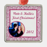 Ornamento dulce personalizado del navidad del amor adornos