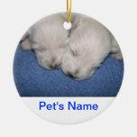 Ornamento el dormir de los perritos de Westie Ornaments Para Arbol De Navidad