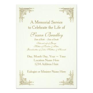 """Ornamento elegante -1 del vintage - ceremonia invitación 4.5"""" x 6.25"""""""