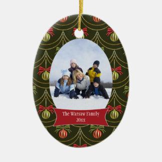 Ornamento elegante de la foto del día de fiesta de ornaments para arbol de navidad