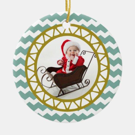 Ornamento elegante de la foto del navidad del ornamento para arbol de navidad