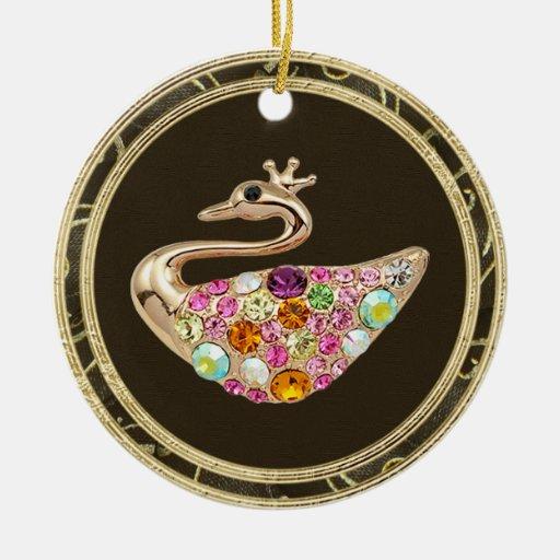 Ornamento elegante de la impresión de la foto de adorno de navidad